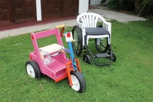 Specialised wheelchairs at the Foundation to Encourage the Potential of Disabled People.